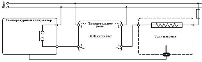 Схема подключения твердотельного реле тэны